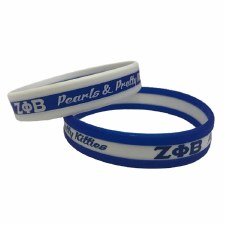 Zeta Phi Beta 3 Layer Wristband