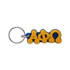 Alpha Phi Omega Bubble Letter Keychain