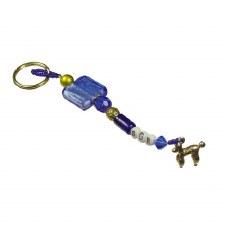 Sigma Gamma Rho Beaded Keychain
