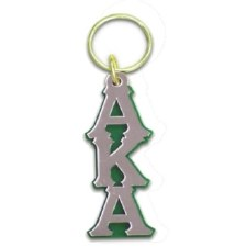 Alpha Kappa Alpha Vertical Letters Keychain