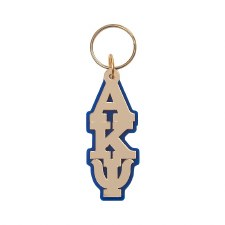 Alpha Kappa Psi Vertical Letters Keychain