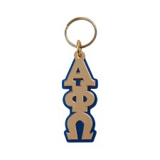 Alpha Phi Omega Vertical Letters Keychain
