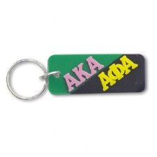 Alpha Kappa Alpha/Alpha Phi Alpha Greek Couple Keychain