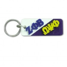 Zeta Phi Beta/Omega Psi Phi Greek Couple Keychain