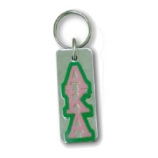 Alpha Kappa Alpha Mirror Background Keychain