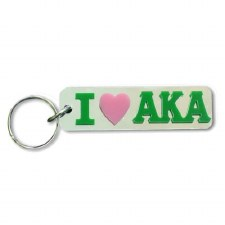 Alpha Kappa Alpha I Love Keychain