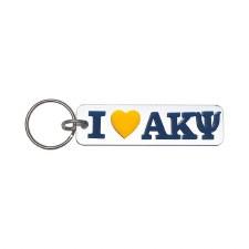 Alpha Kappa Psi I Love Keychain