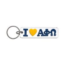 Alpha Phi Omega I Love Keychain