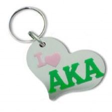 Alpha Kappa Alpha Heart Keychain