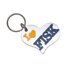 Fisk University Heart Keychain
