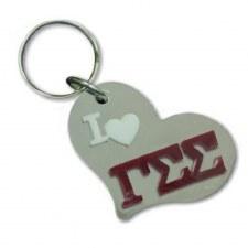 Gamma Sigma Sigma Heart Keychain