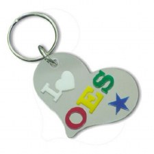 Order of the Eastern Star Heart Keychain