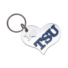 Tennessee State University Heart Keychain