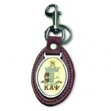 Kappa Alpha Psi Leather Shield Keychain