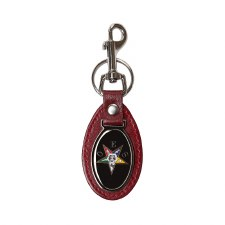 Order of the Eastern Star Leather Shield Keychain