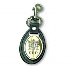 Sigma Gamma Rho Leather Shield Keychain
