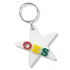 Order of the Eastern Star Symbol Keychain