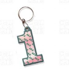 Alpha Kappa Alpha Line Number Keychain