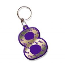 Omega Psi Phi Line Number Keychain