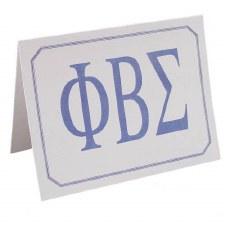 Phi Beta Sigma Greek Letters Card
