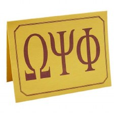 Omega Psi Phi Greek Letters Card