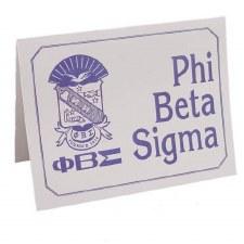 Phi Beta Sigma Crest & Organization Card