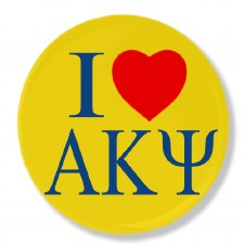 Alpha Kappa Psi I Love Button