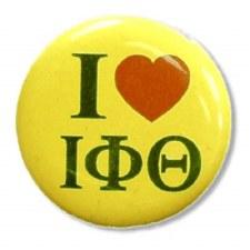 Iota Phi Theta I Love Button