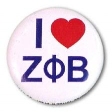 Zeta phi Beta I Love Button