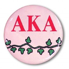 Alpha Kappa Alpha Mascot Button