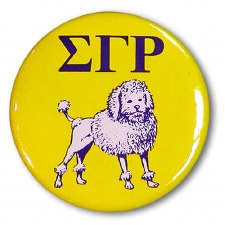 Sigma Gamma Rho Mascot Button
