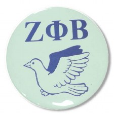 Zeta phi Beta Mascot Button