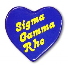 Sigma Gamma Rho Heart Button