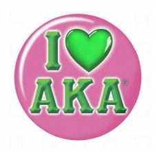 Alpha Kappa Alpha I Love Button