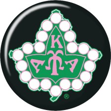 Alpha Kappa Alpha Twenty Pearls Ivy Button