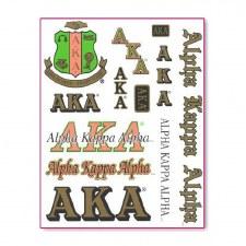 Alpha Kappa Alpha Greek Multi Decals