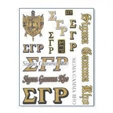 Sigma Gamma Rho Greek Multi Decals