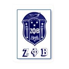 Zeta Phi Beta Crest Decal