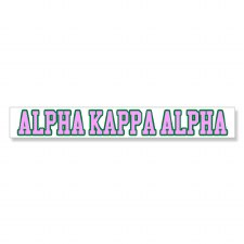 Alpha Kappa Alpha Long Decal