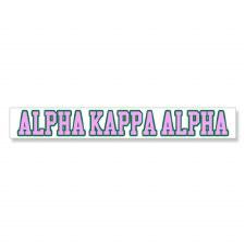 Alpha Kappa Alpha Long Decal