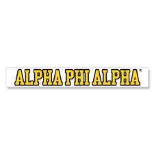 Alpha Phi Alpha Long Decal