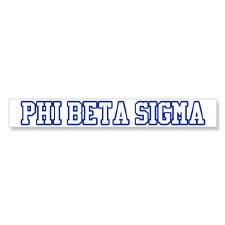 Phi Beta Sigma Long Decal