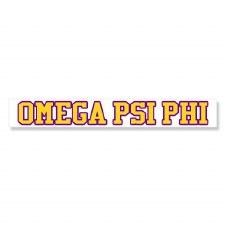 Omega Psi Phi Long Decal