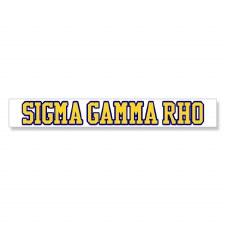 Sigma Gamma Rho Long Decal
