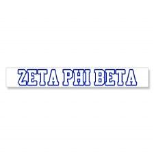 Zeta Phi Beta Long Decal