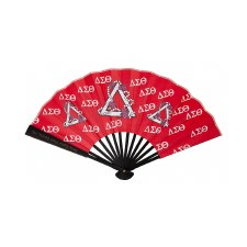 Delta Sigma Theta Wooden Handle Fan