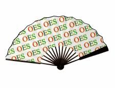 Order of the Eastern Star Wooden Hand Fan