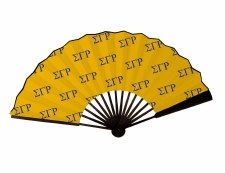 Sigma Gamma Rho Wooden Handle Fan