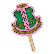 Alpha Kappa Alpha Sorority Crest Hand Fan