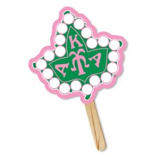 Alpha Kappa Alpha Ivy Leaf Symbol Hand Fan